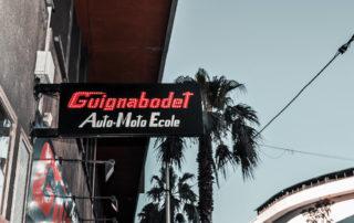 enseigne auto école Guignabodet à Toulon
